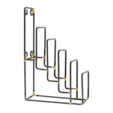 Set of 2 Tiered Metal Display Stands, Plate Rack Easel Holder Tabletop