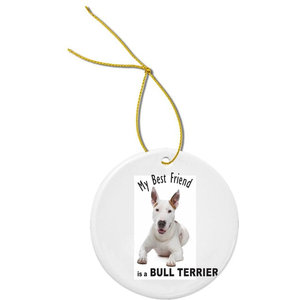 My Best Friend French Bulldog Brown Trophy Round Porcelain