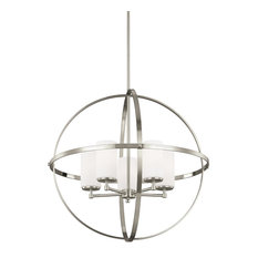Sea Gull Lighting 5-Light Chandelier, Incandescent, Brushed Nickel