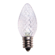 Cool White LED C7 Christmas Light Bulbs - Pack of 25