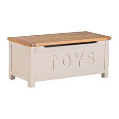 Portland Stone Painted Oak Toy Box