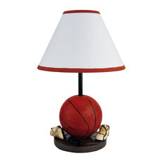 50 most popular contemporary kids table lamps for 2018 houzz ore international 15 tall polyresin accent table lamp basketball shaped cone linen aloadofball Choice Image