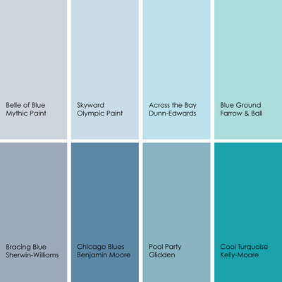 Bathed in color when to use blue in the bath Paint colors for calming effect