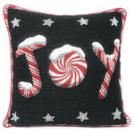DaDa Bedding Collection - Peppermint Joy Stars Throw Pillow Cover Tapestry Cushion Cases 18 x 18, 2 Pcs - We hope you have a Christmas filled with Joy and Love this season with our one of a kind DaDa Bedding throw pillow cover.