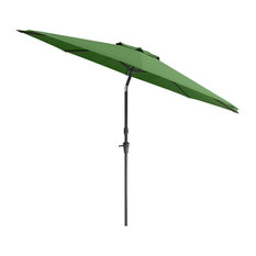 CorLiving UV and Wind Resistant Tilting Patio Umbrella in Forest Green