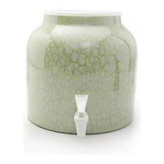 Goldwell Designs Marble Water Dispenser Crock, Green