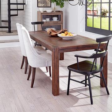 Modern Dining Room - Nantucket Graphite, Solid, Red Oak Hardwood