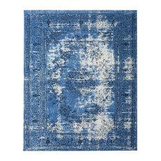 Dawlish Blue Vintage-Inspired Persian Rug, 8'x10'