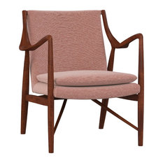 MOD - Pearce Modern Accent Chair, Cedar Red Fabric - Armchairs and Accent Chairs