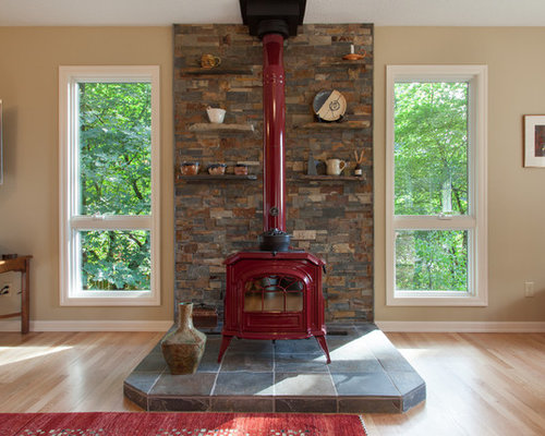 Wood Burning Stove Tile Houzz