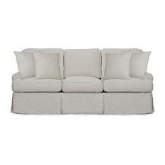 Horizon Slipcovered Sofa, Light Gray