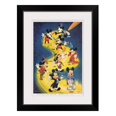 """Mickey Mouse ()"" Black Framed Art Print, 20""x26""x1"""