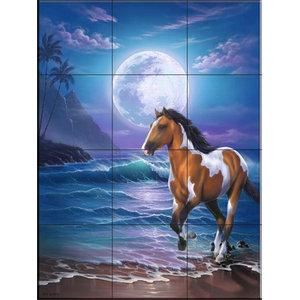 Tile Mural, Appaloosa Dreams - JW, 32.4x43.2 cm