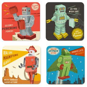 Roboutique Coasters, 4-Piece Set