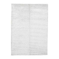 Tone On Tone Wool and Silk Hand-Loomed Oriental Rug, 5'x7'