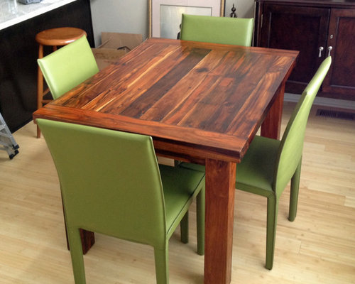 Reclaimed Teak Dining Tables - 36 x 48 dining table with leaf