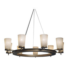 Onyx chandeliers houzz ultralights lighting radius chandelier caramel onyx acrylic cast bronze chandeliers aloadofball