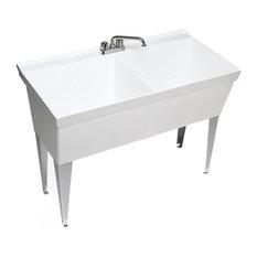 Swan 23.375x45.375x33.625 Veritek Utility Tub, White