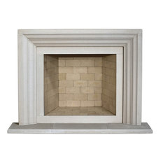 Ellie Cast Stone Fireplace Mantel, Pearl