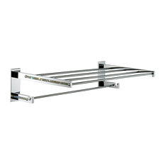 Swarovski Crystals Adhesive Towel Rack, Chrome and Silver