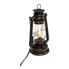 Rustic Table Lamp Lantern