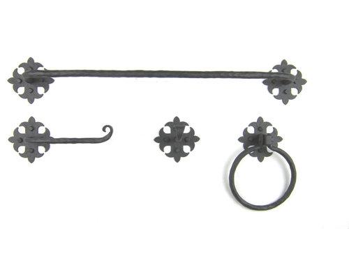 Rustic Spanish Style Wrought Iron Bathroom Hardware - Iron bathroom hardware