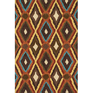 Santa Fe Stripe Rug Contemporary Area Rugs By