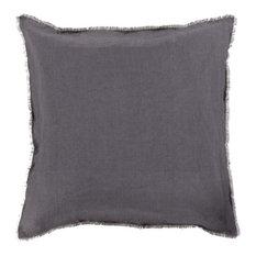 "Surya - Surya Eyelash Linen Large Square Pillow, 22""x22"" - Decorative Pillows"