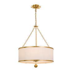 Crystorama Broche 6-Light Antique Gold Chandelier