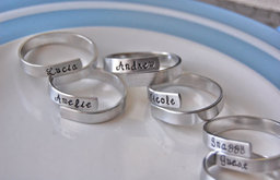 Family Napkin Rings, Personalized by Lorelei Vella