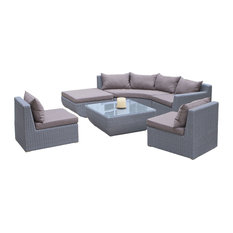 GDFStudio - Lakeshore Sectional Sofa 7-Piece Set - Outdoor Lounge Sets