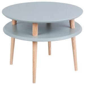 UFO Round Scandinavian Coffee Table, Dark Grey