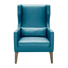 Sunpan 5West Messina Armchair Turquoise Leather