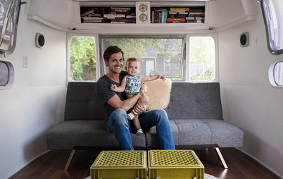 Houzz TV: See a Man Turn a '70s Airstream Into a Cool, Happy Home