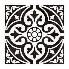 Floor Tile, Satin Black, 1 m²