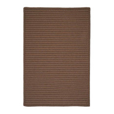 Colonial Mills, Inc - 10'x13' (Large 10x13) Rug, Cashew (Beige) Braided Indoor/Outdoor Carpet - Outdoor Rugs