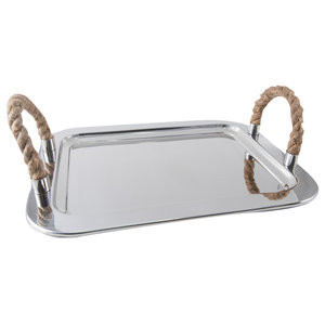 Serving Tray With Rope Handles