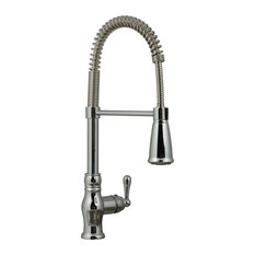 Ultra Faucets Chrome Single-Handle Kitchen Faucet With Pull-Down Spray