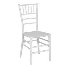 Hercules Series White Resin Stacking Chiavari Chair