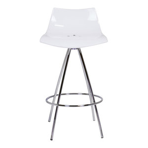 Calligaris Ice Style Clear Counter Stool Contemporary
