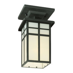 Mission 1-Light Ceiling Lamp, Black