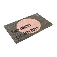 "Jagger ""Be Nice or Leave"" Doormat"