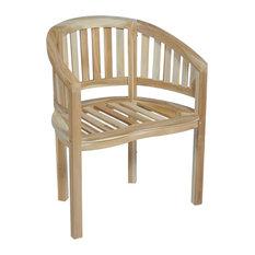 vidaXL Teak Banana Chair