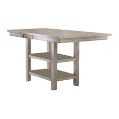 Willow Rectangular Counter Height Table, Distressed White