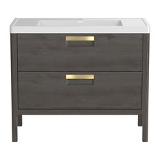 "MOD - Sorrel Gray Bathroom Vanity, 39"" - Bathroom Vanities and Sink Consoles. SALE"