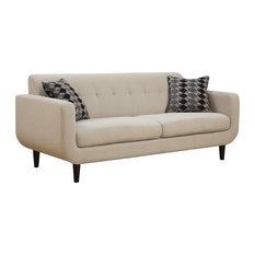 Perfect Coaster Fine Furniture   Coaster Ivory Linen Like Fabric Sofa   Sofas