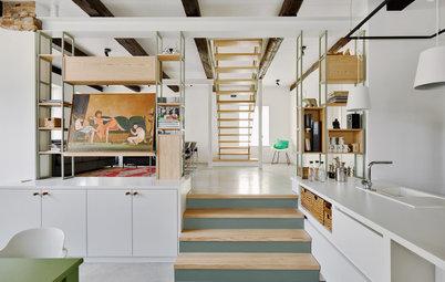Vorher-Nachher: Werkstatt wird zum luftig-hellen Wohnhaus