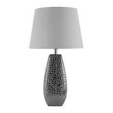 Croc Large Table Lamp , Chrome, Large