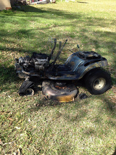 My Cub Cadet was on fire!