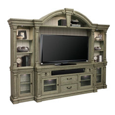 Parker House Lafayette LAF#780-4 4-Piece Entertainment Wall In Sage